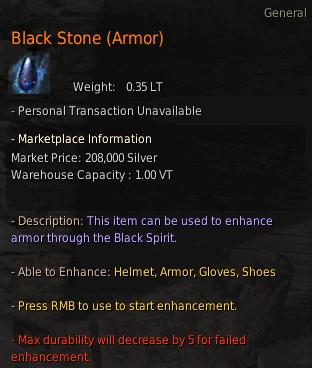 BDO Black Stone (Armor)