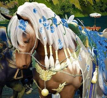 BDO Blue Flower Horse