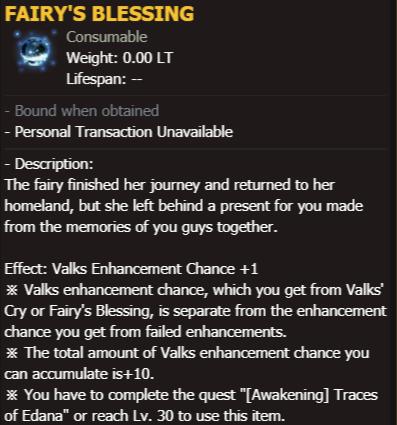 BDO Fairy's Blessing