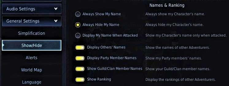 BDO Remove Family Name and Icons