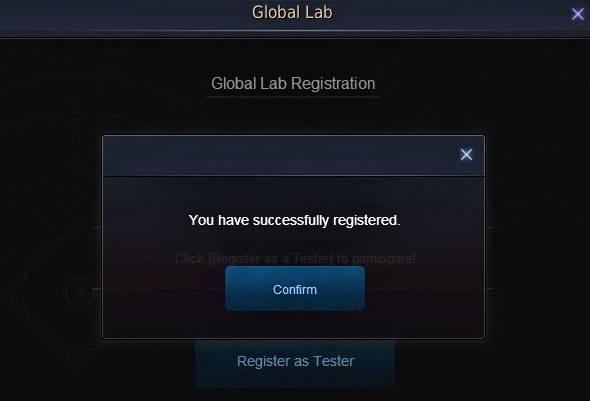 BDO Global Lab Test Server Registration Completed