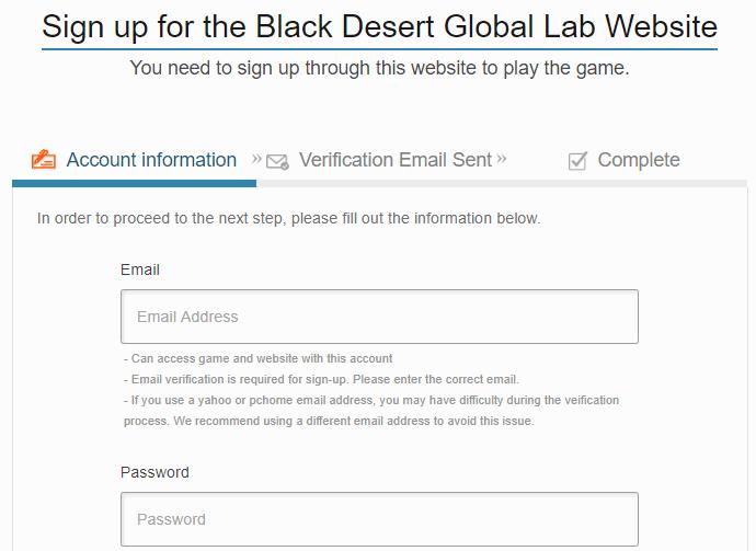 BDO Global Lab Test Server Sign Up
