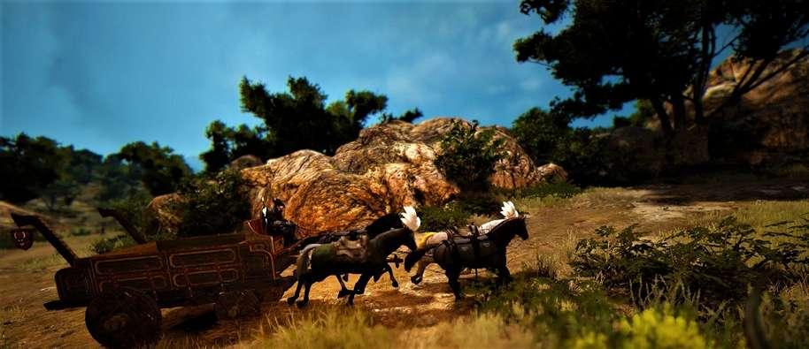 BDO Training 4 Horses with a Wagon