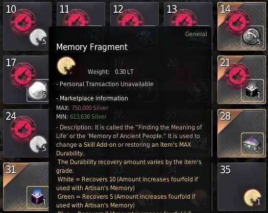 BDO Memory Fragment Attendance Reward