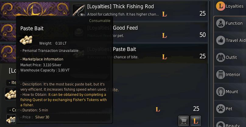 BDO Paste Bait to Decrease Fishing Time