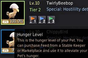 BDO Pet Food for Hunger Level