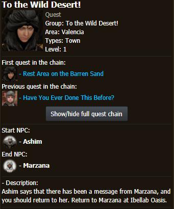 BDO Quest: To the Wild Desert!