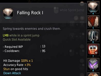 BDO Shadow Arena: Berserker Skill - Falling Rock