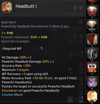 BDO Shadow Arena: Berserker Skill - Headbutt