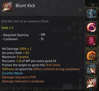 BDO Shadow Arena: Maehwa Skill - Blunt Kick