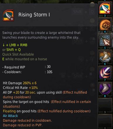 BDO Shadow Arena: Musa Skill - Rising Storm