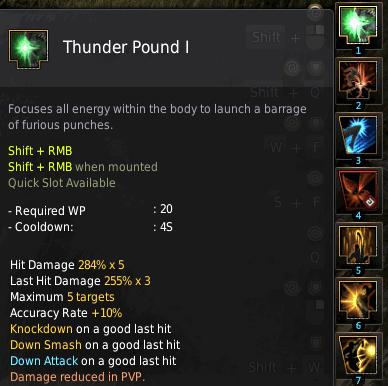 BDO Shadow Arena: Mystic Skill - Thunder Pound