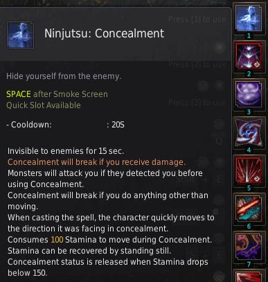 BDO Shadow Arena: Ninja Skill - Ninjutsu Concealment