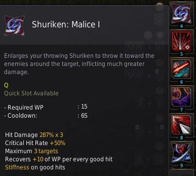BDO Shadow Arena: Ninja Skill - Shuriken Malice