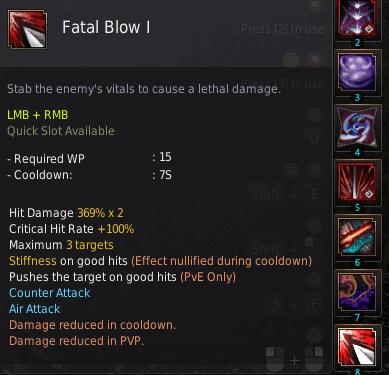 BDO Shadow Arena: Ninja Skill - Fatal Blow