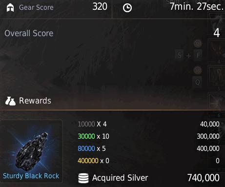BDO Shadow Arena: Silver from Gear Grade