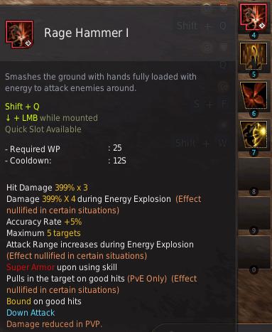 BDO Shadow Arena: Striker Skill - Rage Hammer
