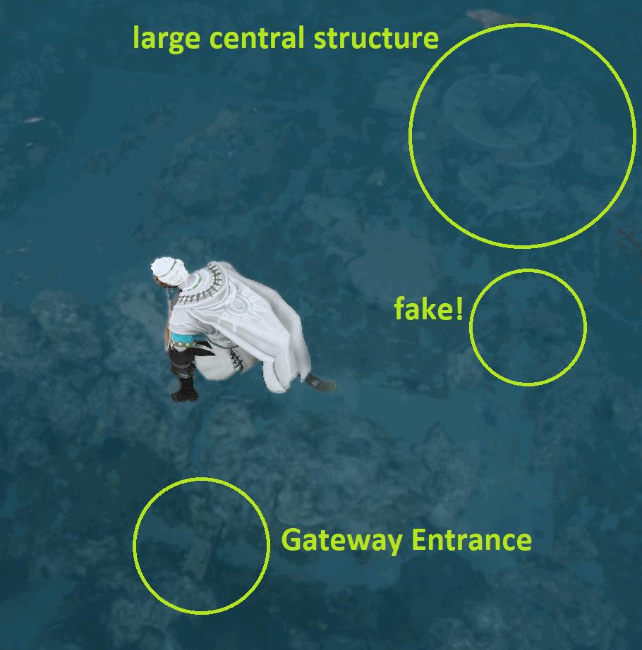 Sycraia Underwater Ruins: Blue Blurry Entrance Gateway