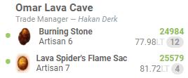 BDO Omar Lava Cave Trading