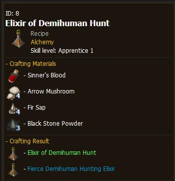 BDO Elixir of Demihuman Hunt