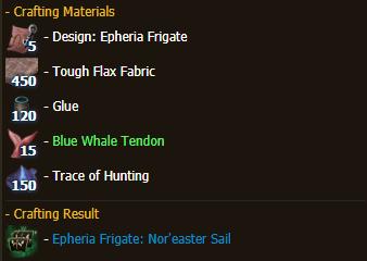 Epheria Frigate: Nor'easter Sail