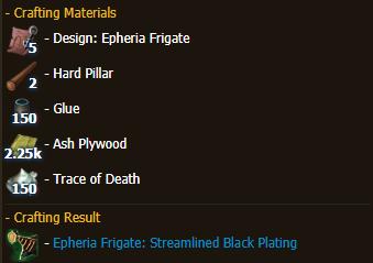 Epheria Frigate: Streamlined Black Plating