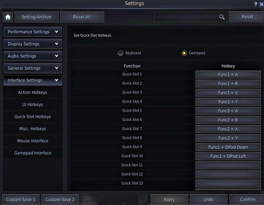 BDO Controller: Quick Slot Hotkeys