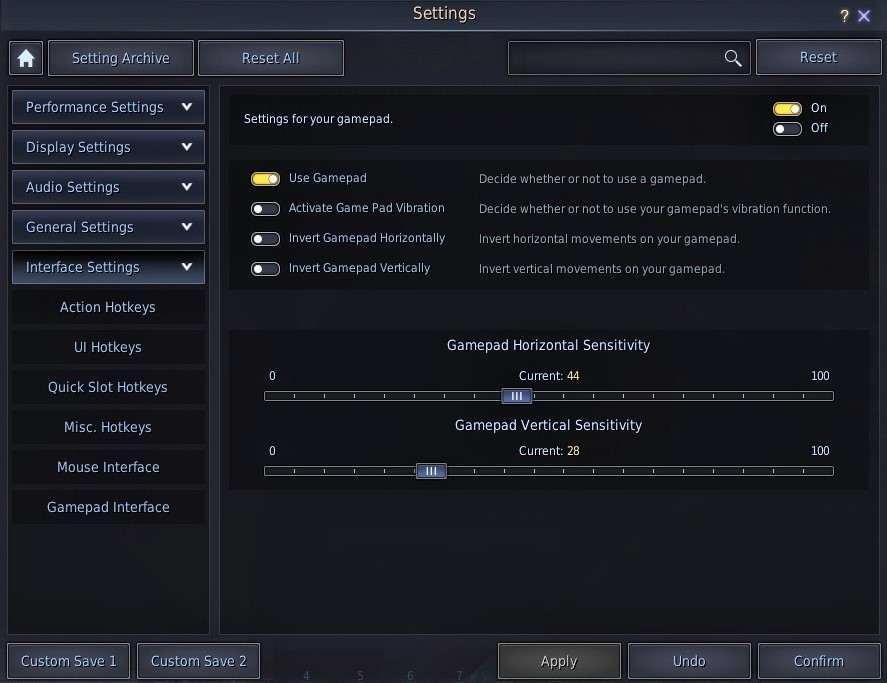 BDO Controller Gamepad Interface