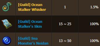 BDO Ocean Stalker drops