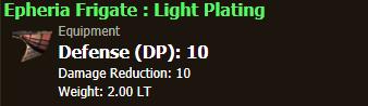 Epheria Frigate : Light Plating