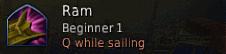 Ram Boat/Sailing Skill