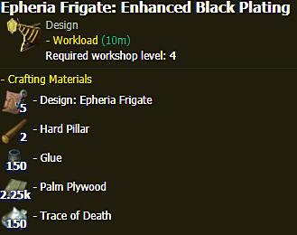 Epheria Frigate: Enhanced Black Plating