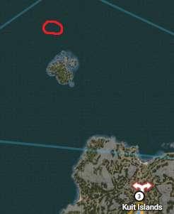 Underwater gathering locations around Northern Kuit Islands