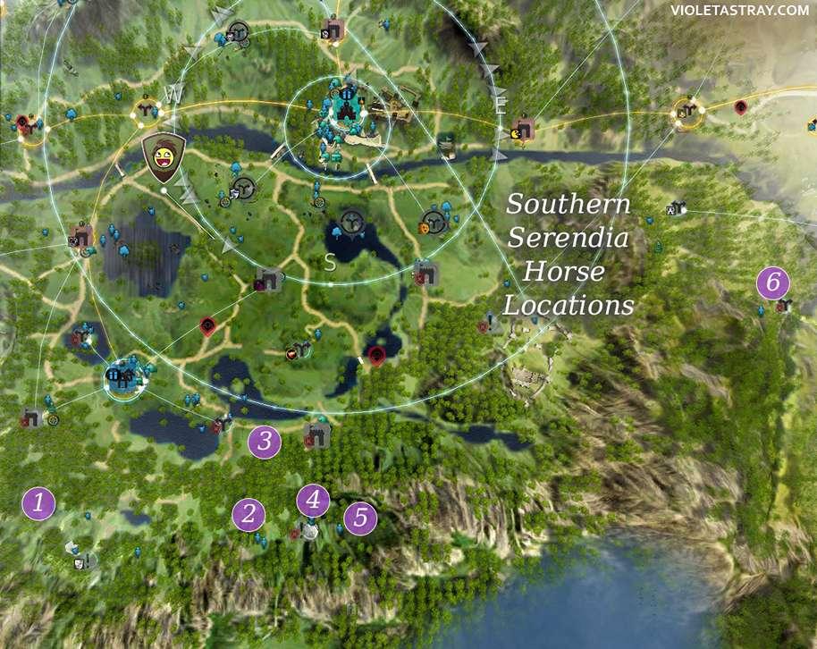 serendia horse location map