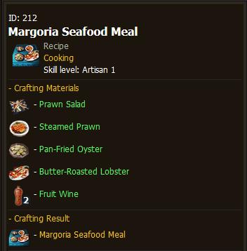 BDO Margoria Seafood Meal