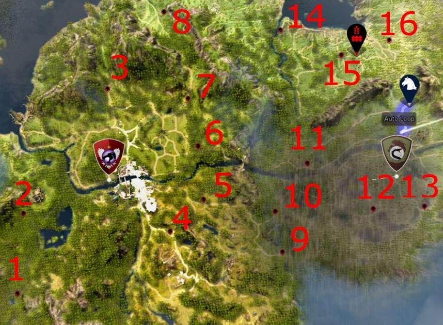 BDO Bandits Map for Conquest Seals