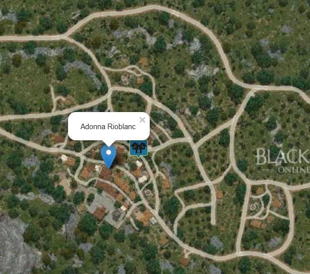 Adonna Rioblanc Location Map