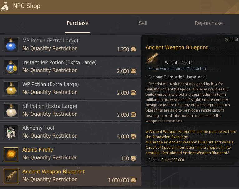 Ancient Weapon Blueprint.