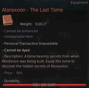 Atoraxxion - The Last Tome