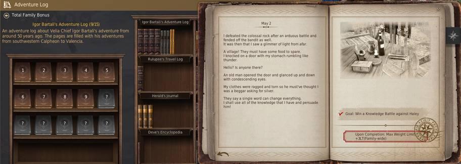 BDO Bartali's Adventure Log Guide (Black Desert Online)