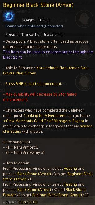 Beginner Black Stone Armor