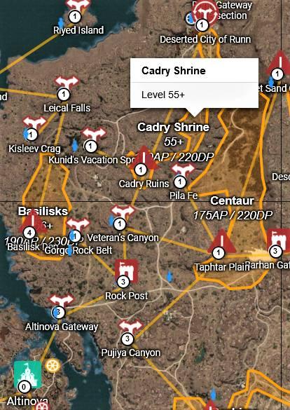 BDO Cadry Ruins Map