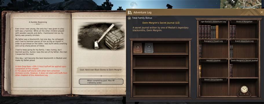 BDO Dorin Morgrim's Secret Journal: Adventure Log Bookshelf