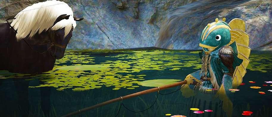 BDO Player AFK Fishing