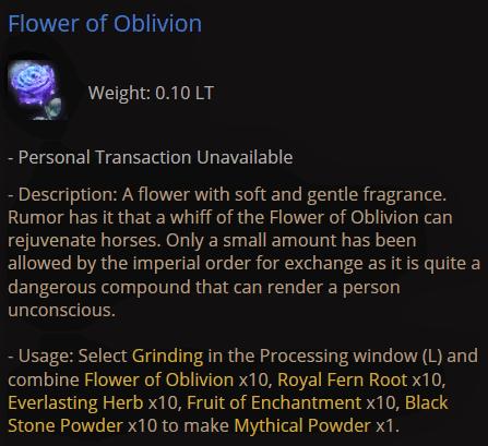 BDO Flower of Oblivion