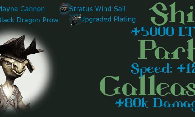 Epheria Galleass Ship Gear (Blue Grade) Design & Enhancement