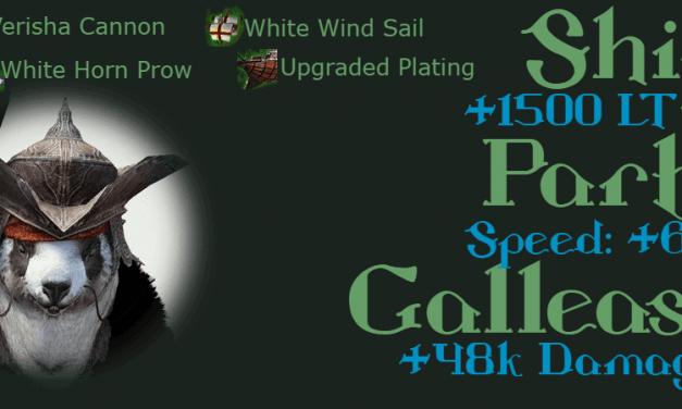Epheria Galleass Ship Gear (Green Grade) Stats & Enhancement