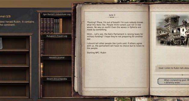 BDO Herald's Journal: Adventure Log Bookshelf (Rubin's Diary)