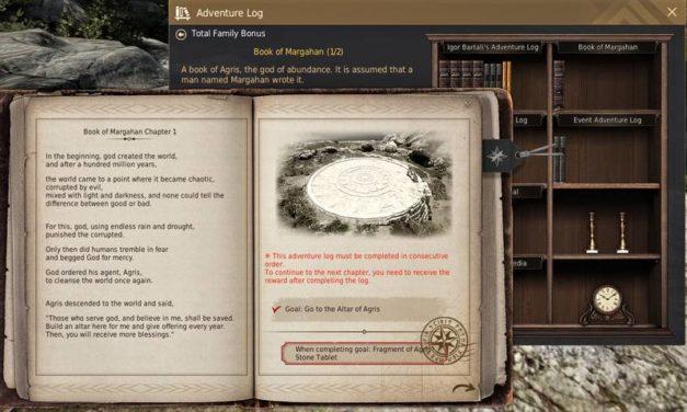 BDO Book of Margahan & Agris: Adventure Log Bookshelf
