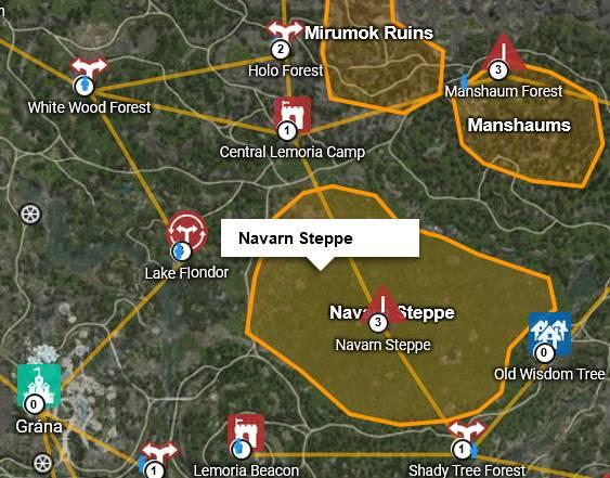 BDO Navarn Steppe Location Map